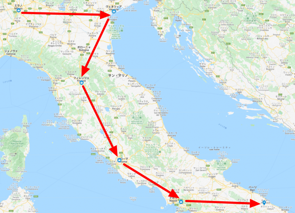 イタリアのマイマップ