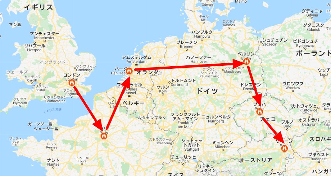 マイマップで作った地図
